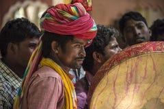 Un musicien Deogat, du Ràjasthàn et son équipe Photo libre de droits