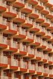 Un número de balcones foto de archivo libre de regalías