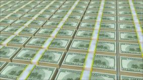 Un n?mero infinito de paquetes de dinero ilustración del vector