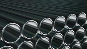 Un n?mero infinito de tubos stock de ilustración