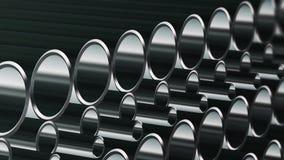 Un n?mero infinito de tubos ilustración del vector
