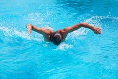 Un nadador en el mar Fotografía de archivo libre de regalías