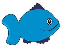 Un nageur bleu de poissons Photographie stock libre de droits