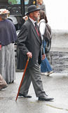 Un-named actor with cane and bowler hat Royalty Free Stock Photography