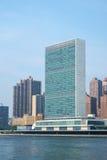 UN Narody Zjednoczone kwater głównych drapacz chmur jak widzieć od Roosevelt Fotografia Royalty Free