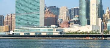 UN Narody Zjednoczone kwater głównych kompleks jak widzieć od Roosevelt Jest Fotografia Stock