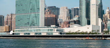 UN Narody Zjednoczone kwater głównych kompleks jak widzieć od Roosevelt Jest Obraz Royalty Free