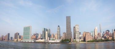 UN Narody Zjednoczone kwater głównych kompleks sk i graniczący Manhattan Obraz Stock