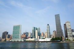 UN Narody Zjednoczone kwater głównych kompleks sk i graniczący Manhattan Obrazy Royalty Free