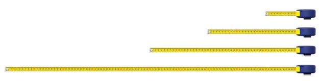 Un nastro di misura del metallo del tester Fotografia Stock