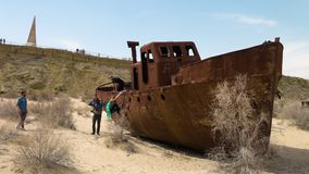 Un naufragio escénico almacen de metraje de vídeo