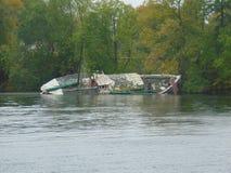 Un naufragio in lago Oich fotografia stock