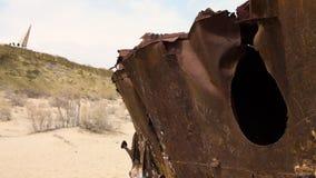Un naufragio scenico stock footage