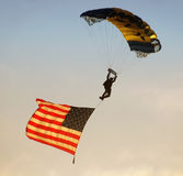 UN Navy paratrooper Royalty Free Stock Photos
