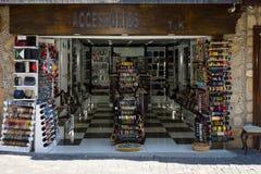 Un negozio che vende gli accessori Immagini Stock Libere da Diritti