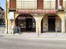 Padua`s tipical old shop  Italy stock image