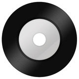 Un negro vinilo aislado en blanco Imagen de archivo libre de regalías