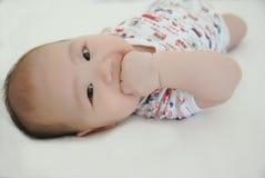 un neonato da 3 mesi Fotografie Stock Libere da Diritti