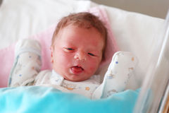 Un neonato del giorno scorso Fotografia Stock