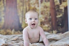 un neonato di 7 mesi Fotografia Stock Libera da Diritti