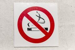 Un nessuno segno di fumo fotografia stock libera da diritti
