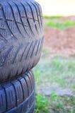 Un neumático foto de archivo