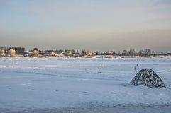 Un Neva congelé image libre de droits