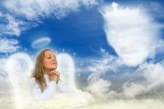 Un ángel que ruega Fotos de archivo
