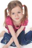 Un niño hermoso de la muchacha Fotografía de archivo