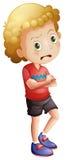 Un niño pequeño enojado Imágenes de archivo libres de regalías