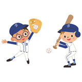 Un niño y un béisbol Imagenes de archivo