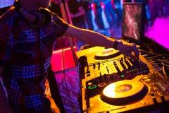 In un night-club. Fotografia Stock