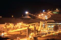 Site de mine d'or Photo stock