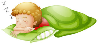 Un niño pequeño que duerme a fondo Imagenes de archivo