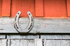 Un noir peint en fer à cheval Photographie stock