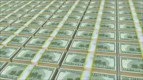 Un nombre infini de paquets d'argent illustration de vecteur