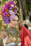 Un nord élégant Thaïlande de ChiangMai de femme de Lanna Photographie stock