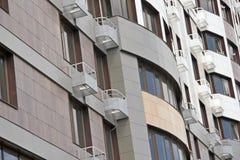 Un nouveau bâtiment à plusiers étages Images libres de droits