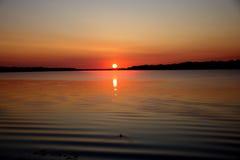 Un nouveau jour avec le lever de soleil Photos stock