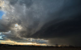 Un nuage de venir de grêle Images libres de droits