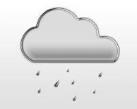 Un nuage et une pluie pelucheux de Chrome Photo stock