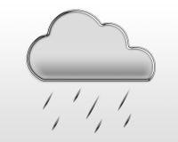 Un nuage pelucheux de Chrome et une forte pluie Image stock