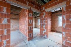 Un nuevo hogar bajo construcción imagenes de archivo