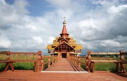 Un nuevo templo Foto de archivo libre de regalías