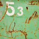 un numero dei 53 grunge Immagine Stock Libera da Diritti