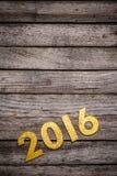 Un numero dorato di 2016 anni Immagini Stock Libere da Diritti