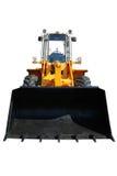 Un nuovo bulldozer reale su bianco Fotografia Stock