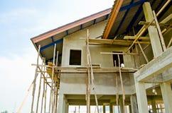 Un nuovo in costruzione domestico Fotografie Stock