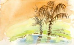 Un'oasi nel deserto Immagine Stock Libera da Diritti