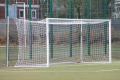 Un obiettivo di gioco del calcio Fotografie Stock